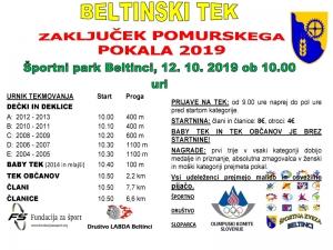 Beltinski tek 2019 - Vabilo