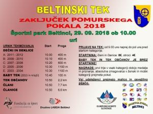 Beltinski tek 2018 - vabilo
