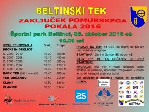 Beltinski tek 2016 - Vabilo