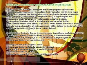 Razpis za športnika leta 2017 Občine Beltinci